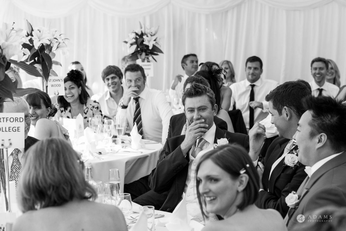 Kingston Bagpuize House wedding guests reaction