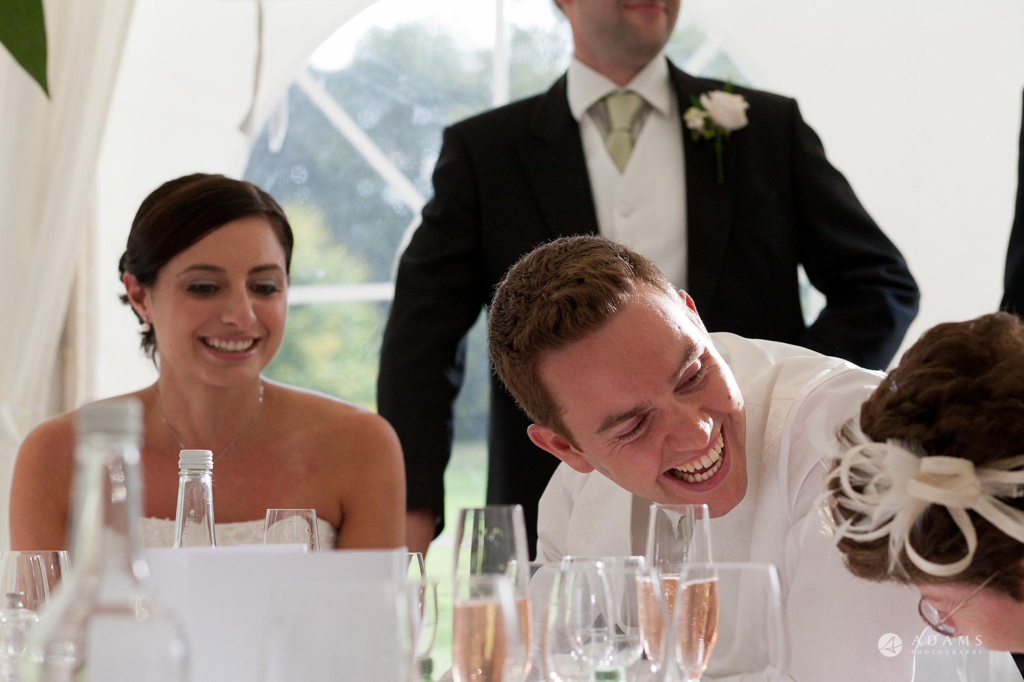 Kingston Bagpuize House wedding grooms reaction
