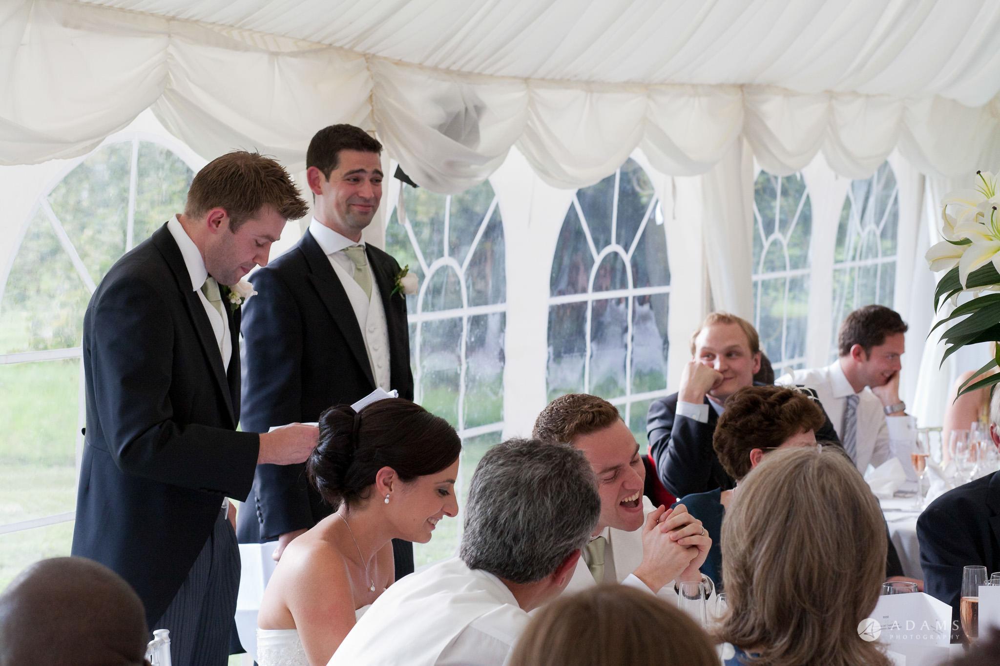 Kingston Bagpuize House wedding best-men speech