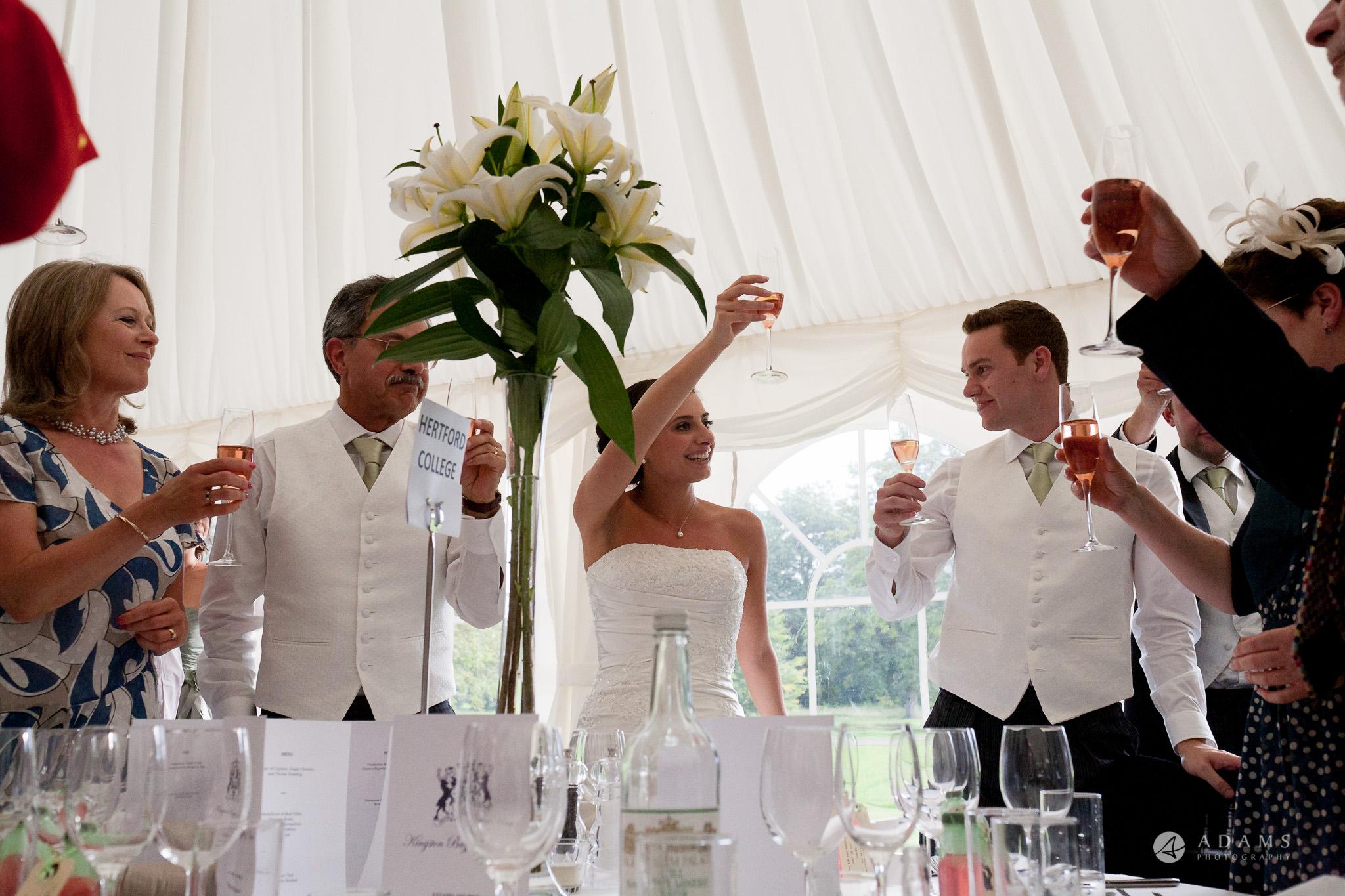 Kingston Bagpuize House wedding toast