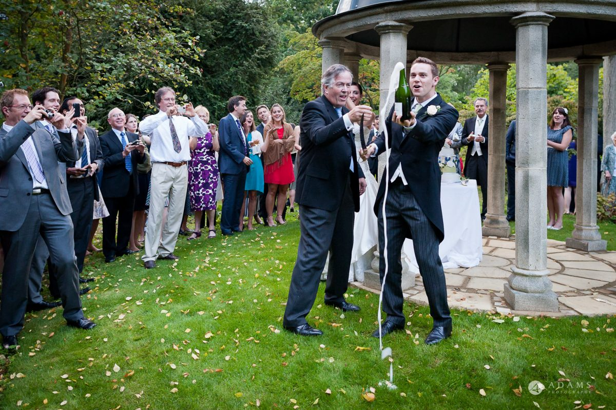 Kingston Bagpuize House wedding Champagne