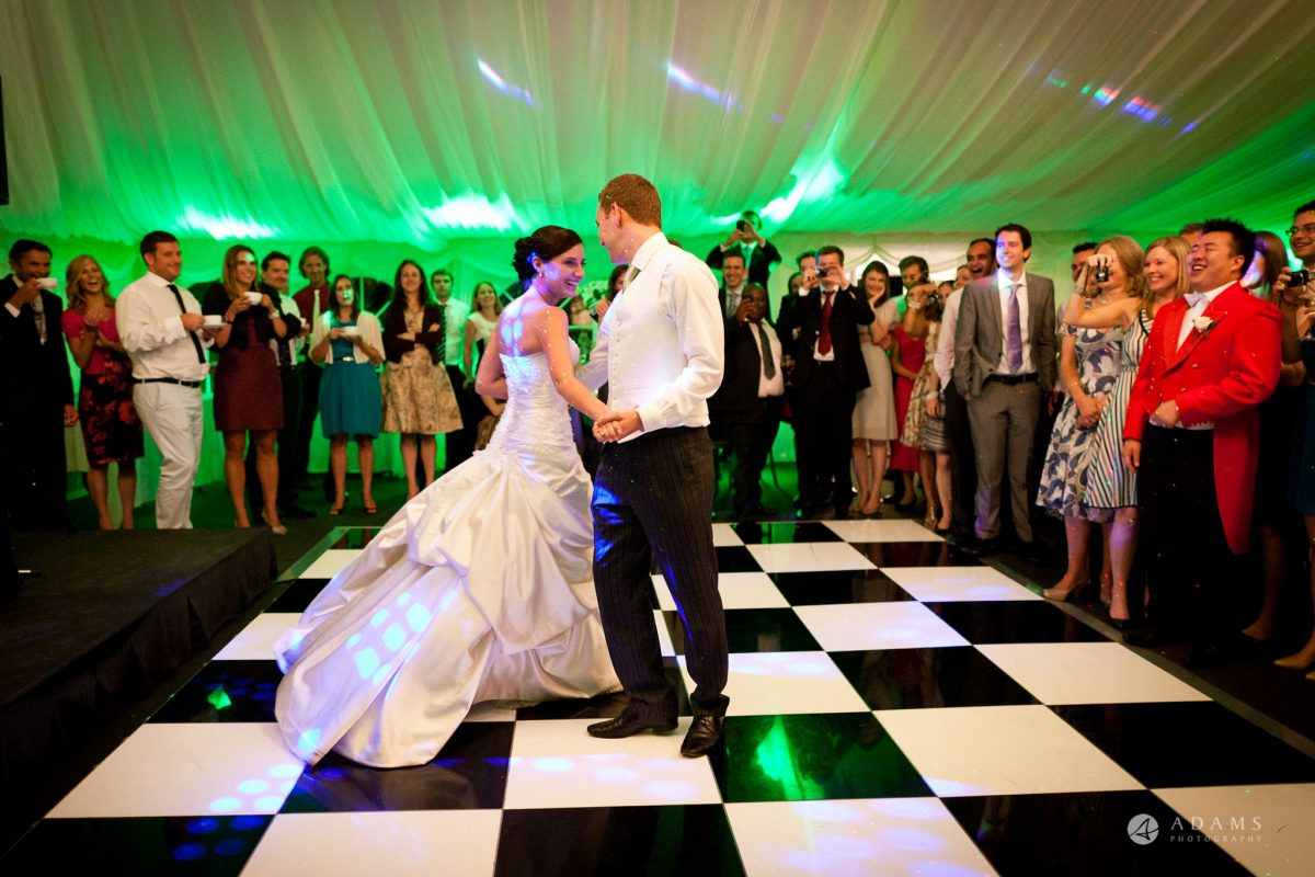 Kingston Bagpuize House wedding couple twirl