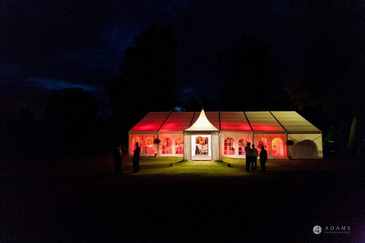 Kingston Bagpuize House wedding marquee
