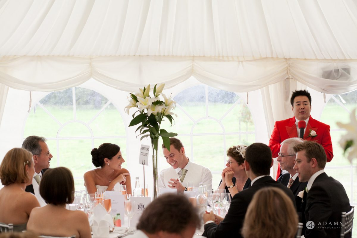 Kingston Bagpuize House wedding top table