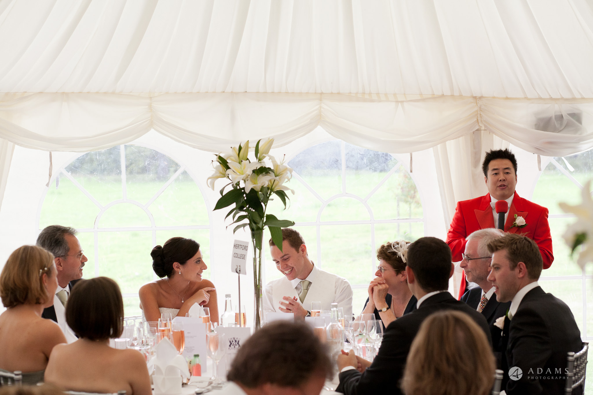 Kingston Bagpuize House wedding top table