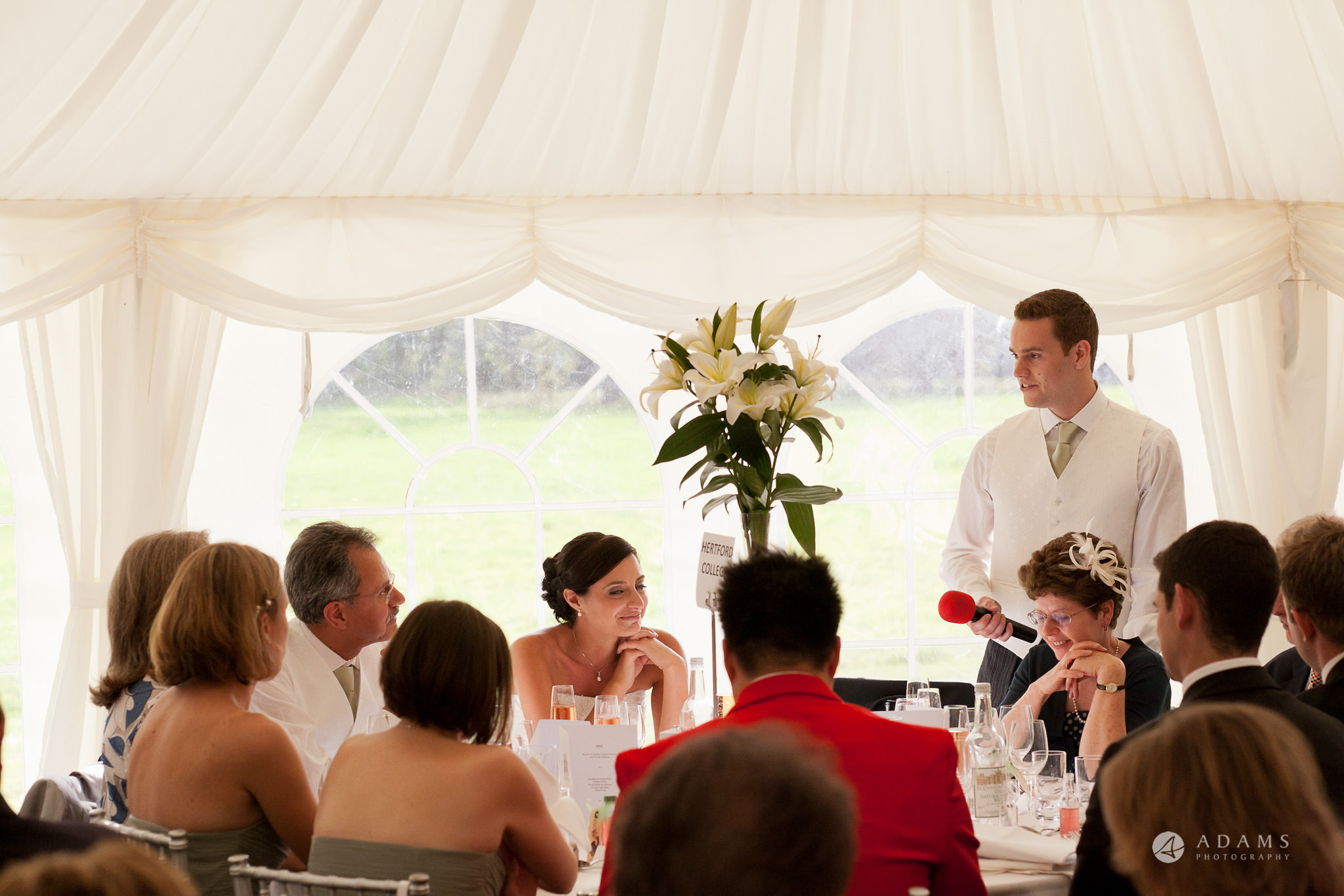 Kingston Bagpuize House wedding groom speech