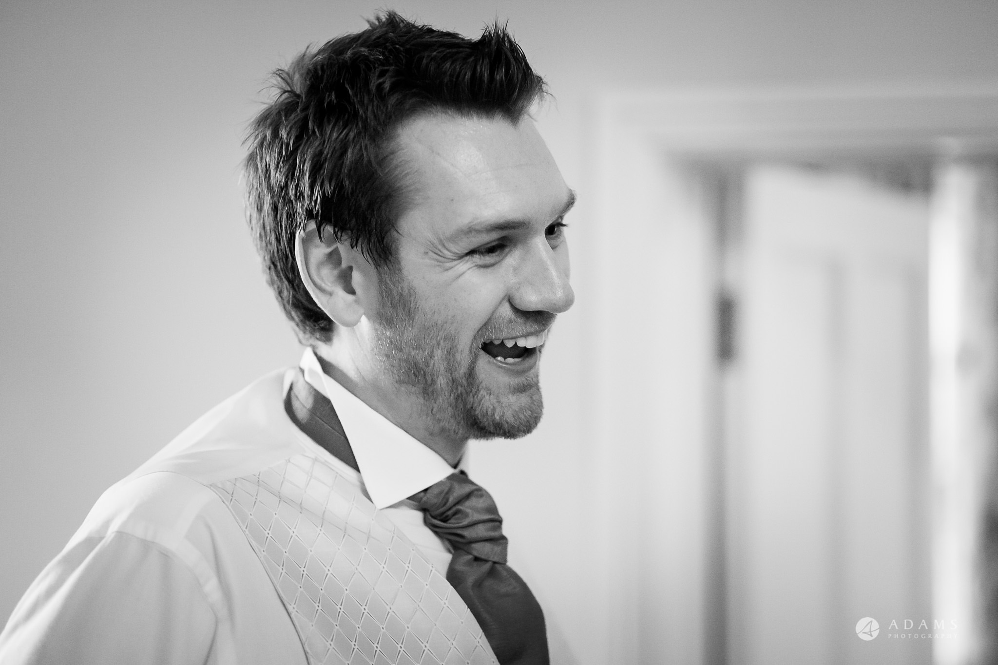 St Audries Park wedding best man laughing