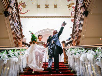 St Audries Park wedding confetti shower
