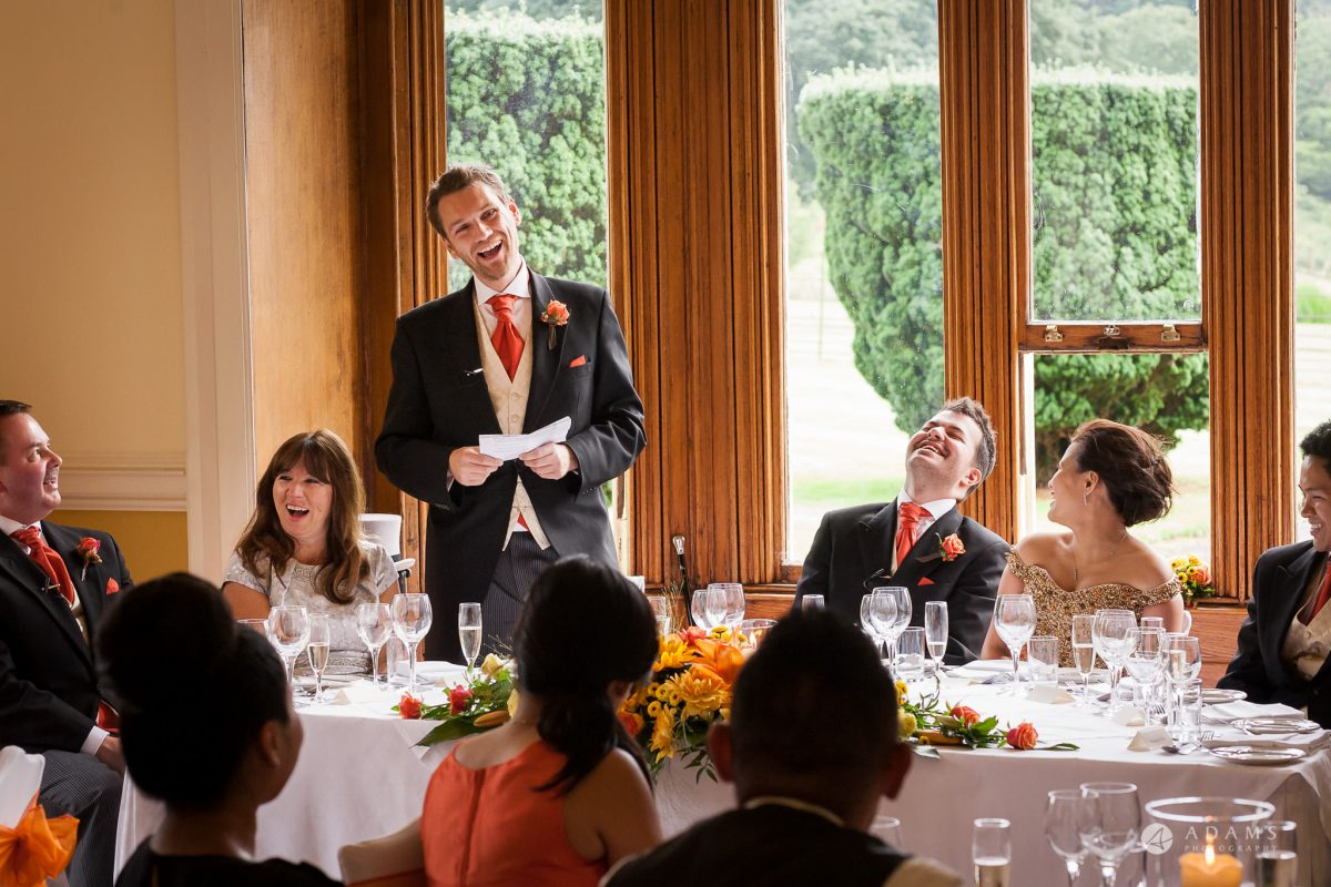 St Audries Park wedding best man speech