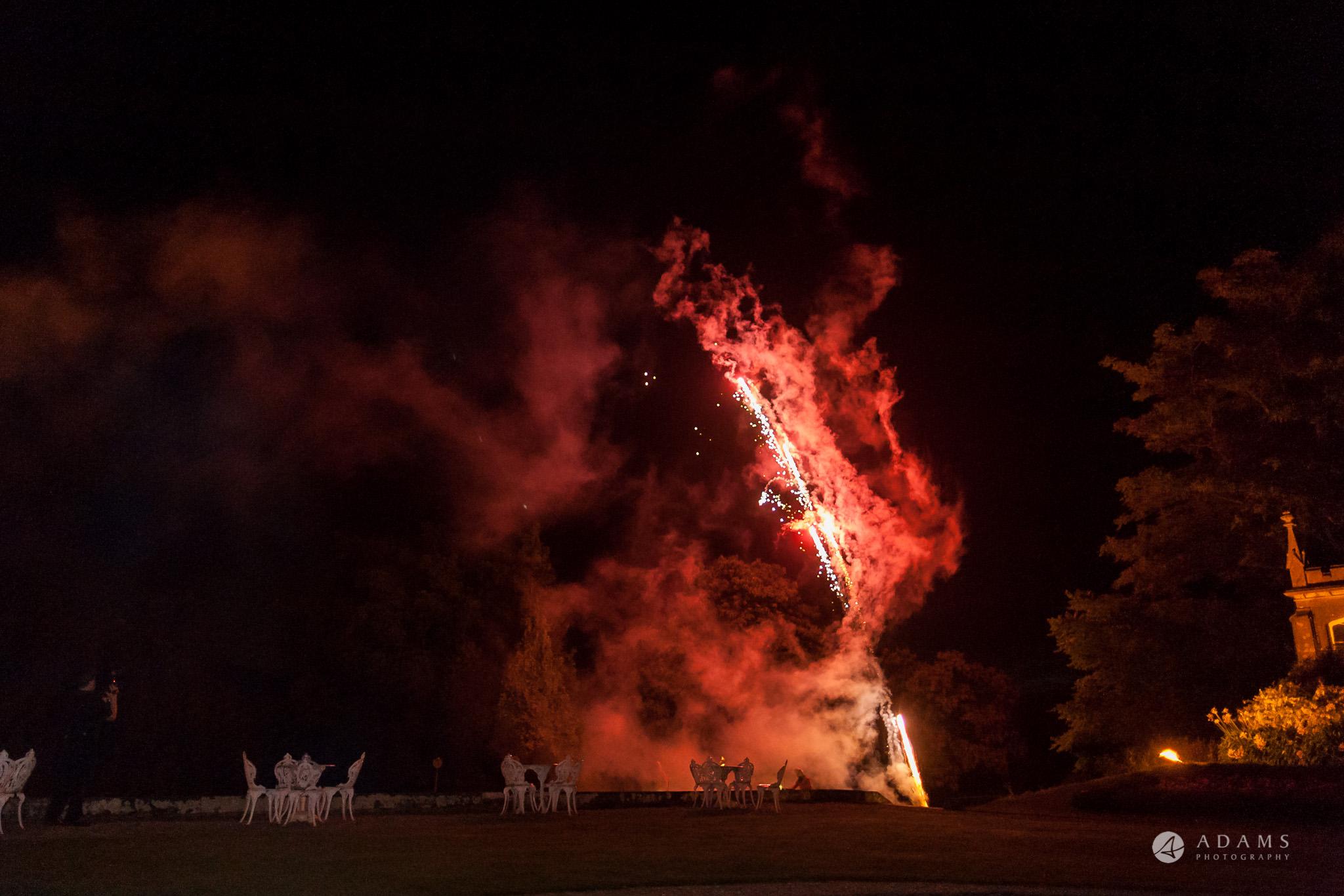 St Audries Park wedding fireworks