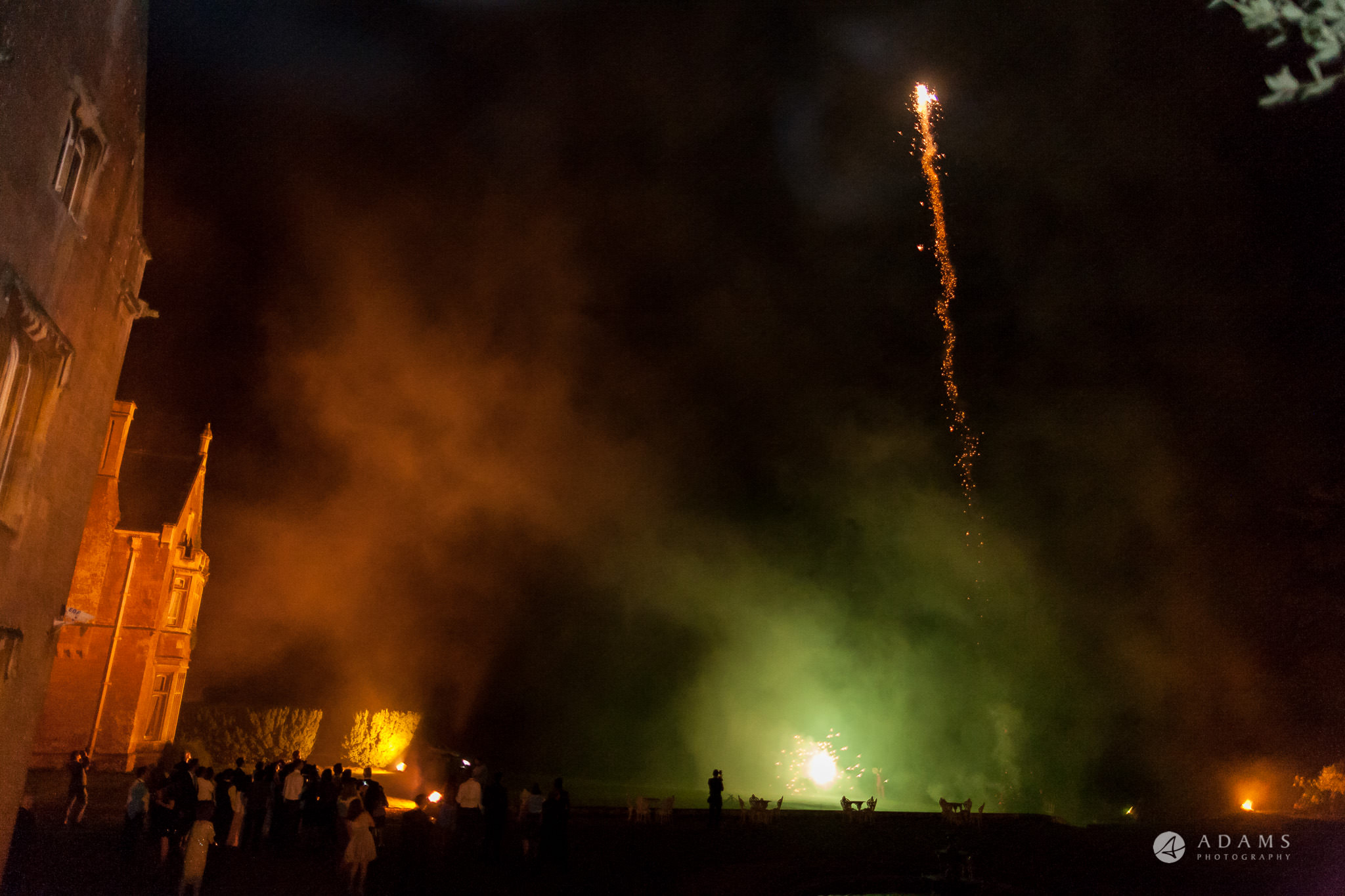 St Audries Park wedding green fireworks