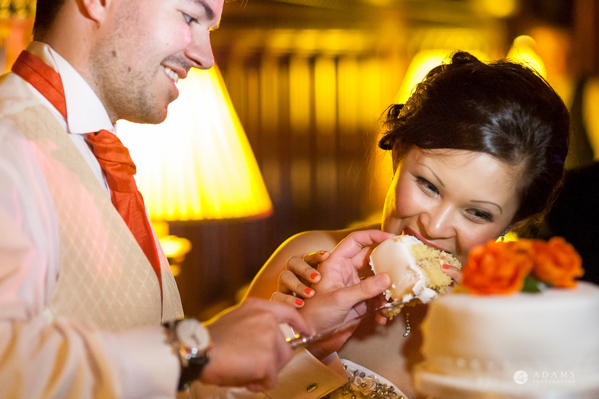 St Audries Park wedding cake cutting