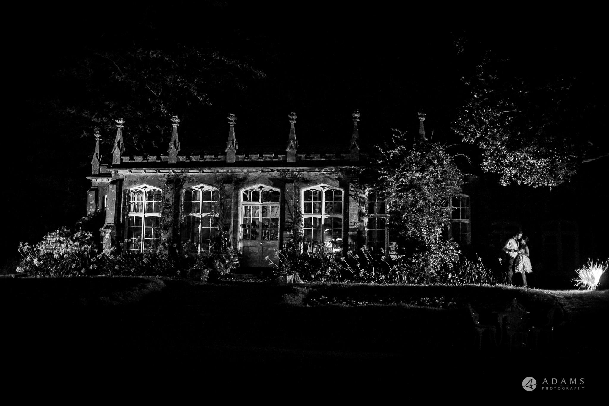 St Audries Park wedding evening photo shot