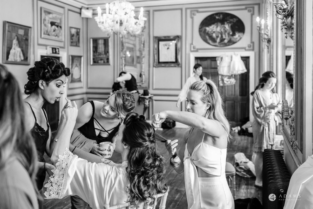 Trinity College Cambridge wedding bridal hair