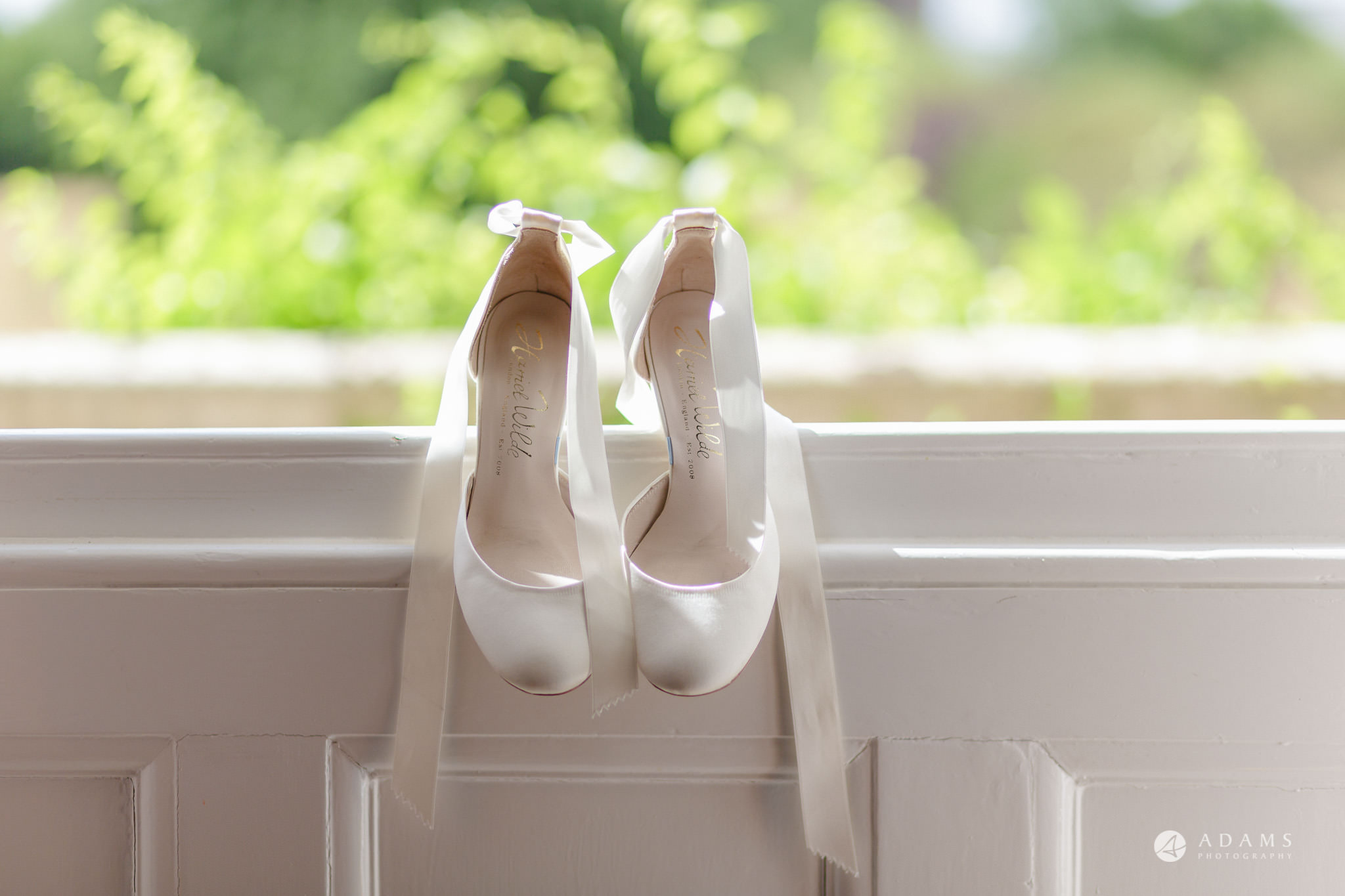 Trinity College Cambridge wedding bride shoes