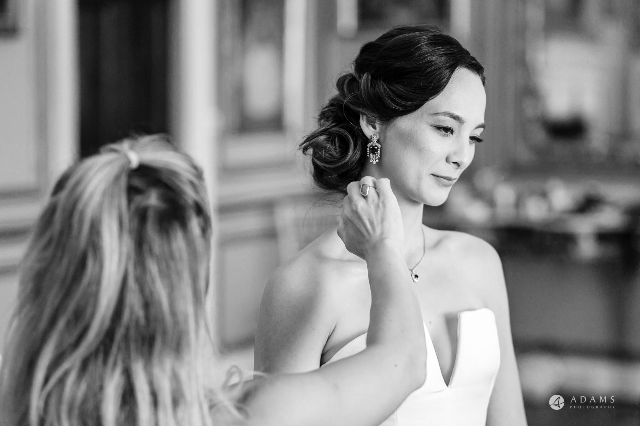 Trinity College Cambridge wedding final make up touches
