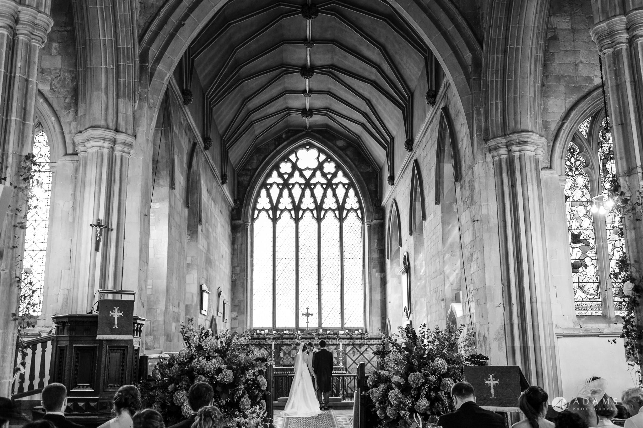 Trinity College Cambridge wedding view form the back of the church