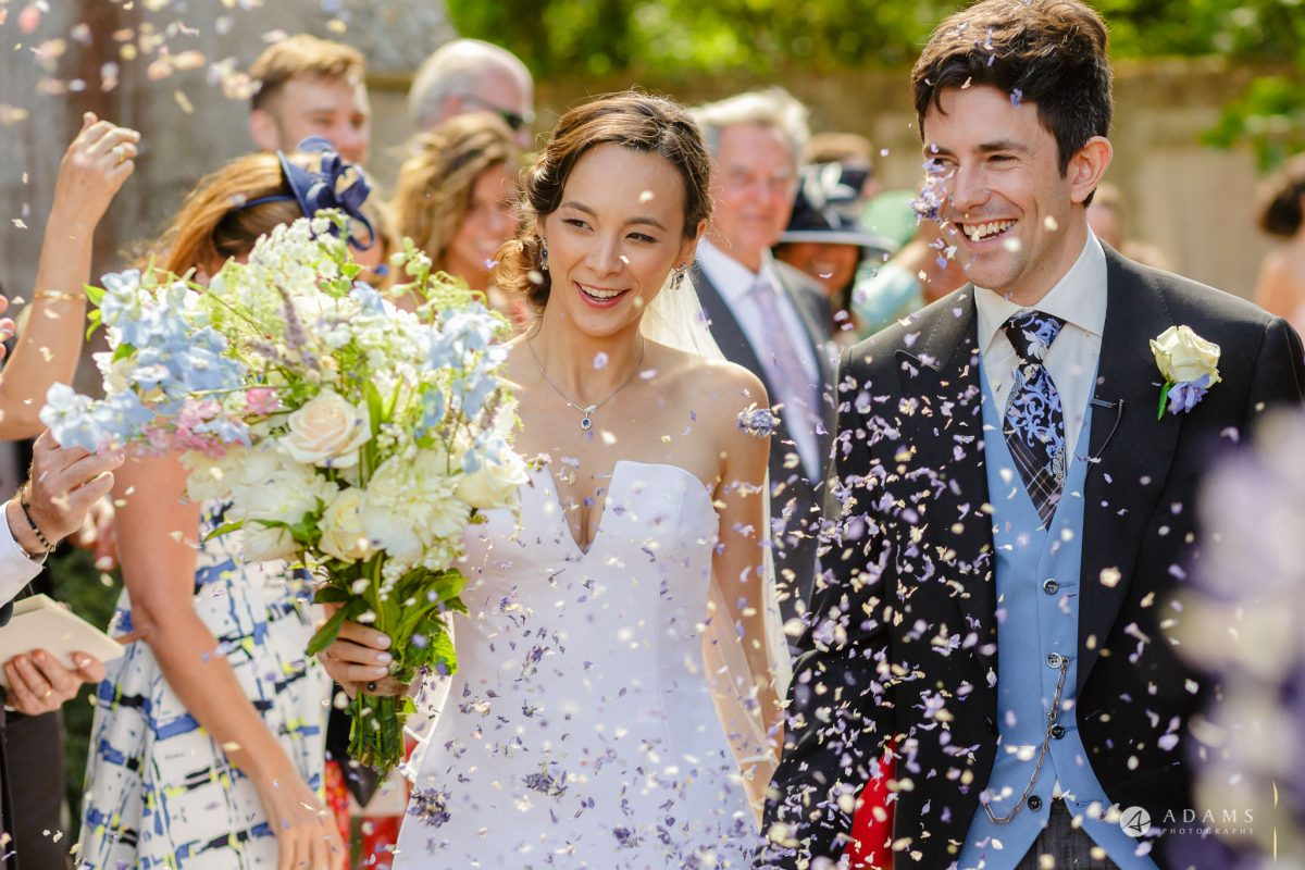 Trinity College Cambridge wedding confetti