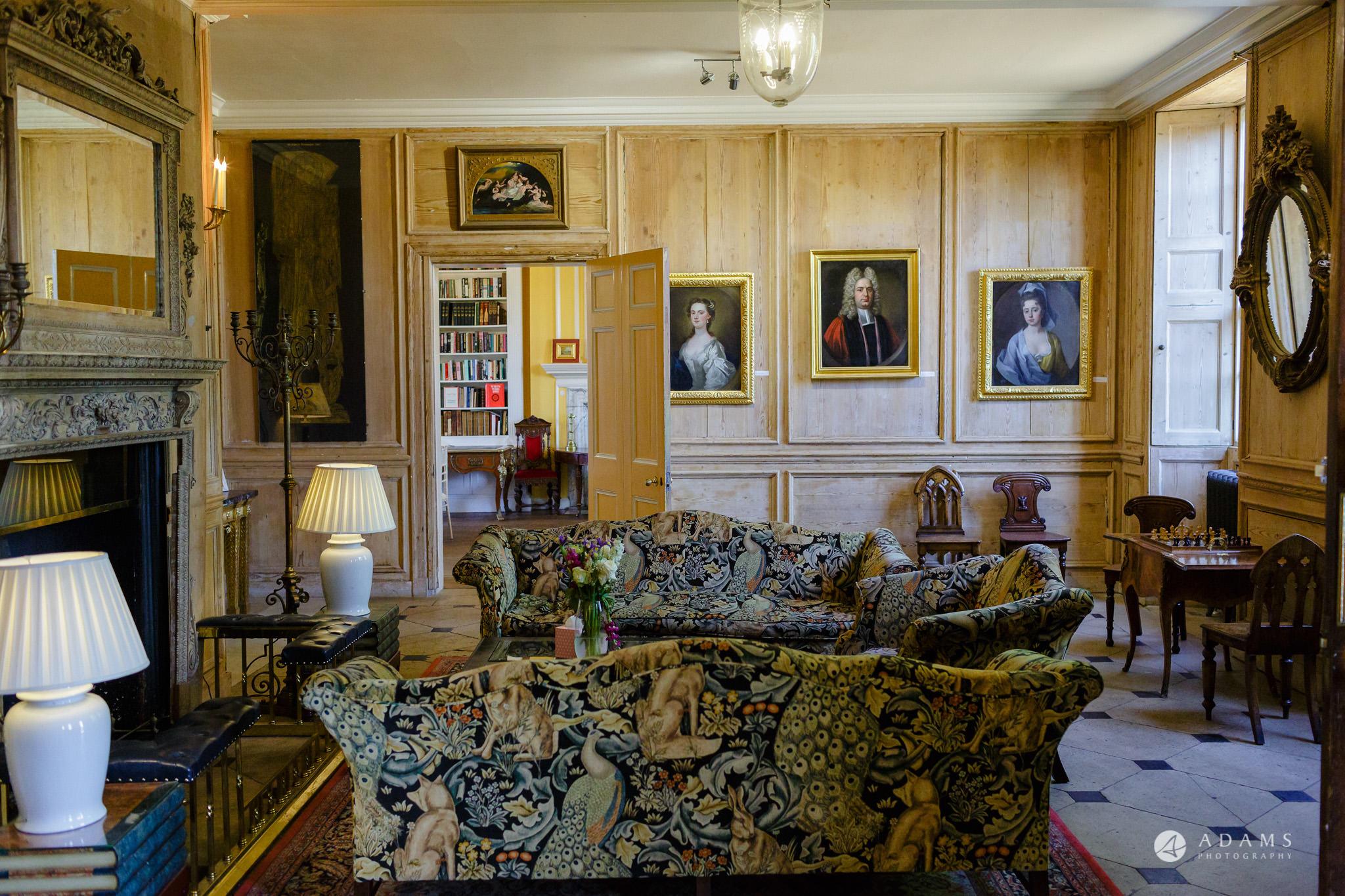 Trinity College Cambridge wedding reception venue interior