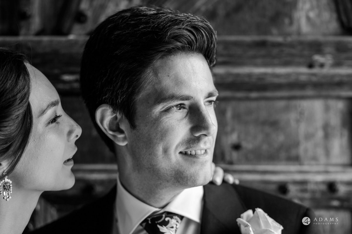 Trinity College Cambridge wedding portrait of the couple