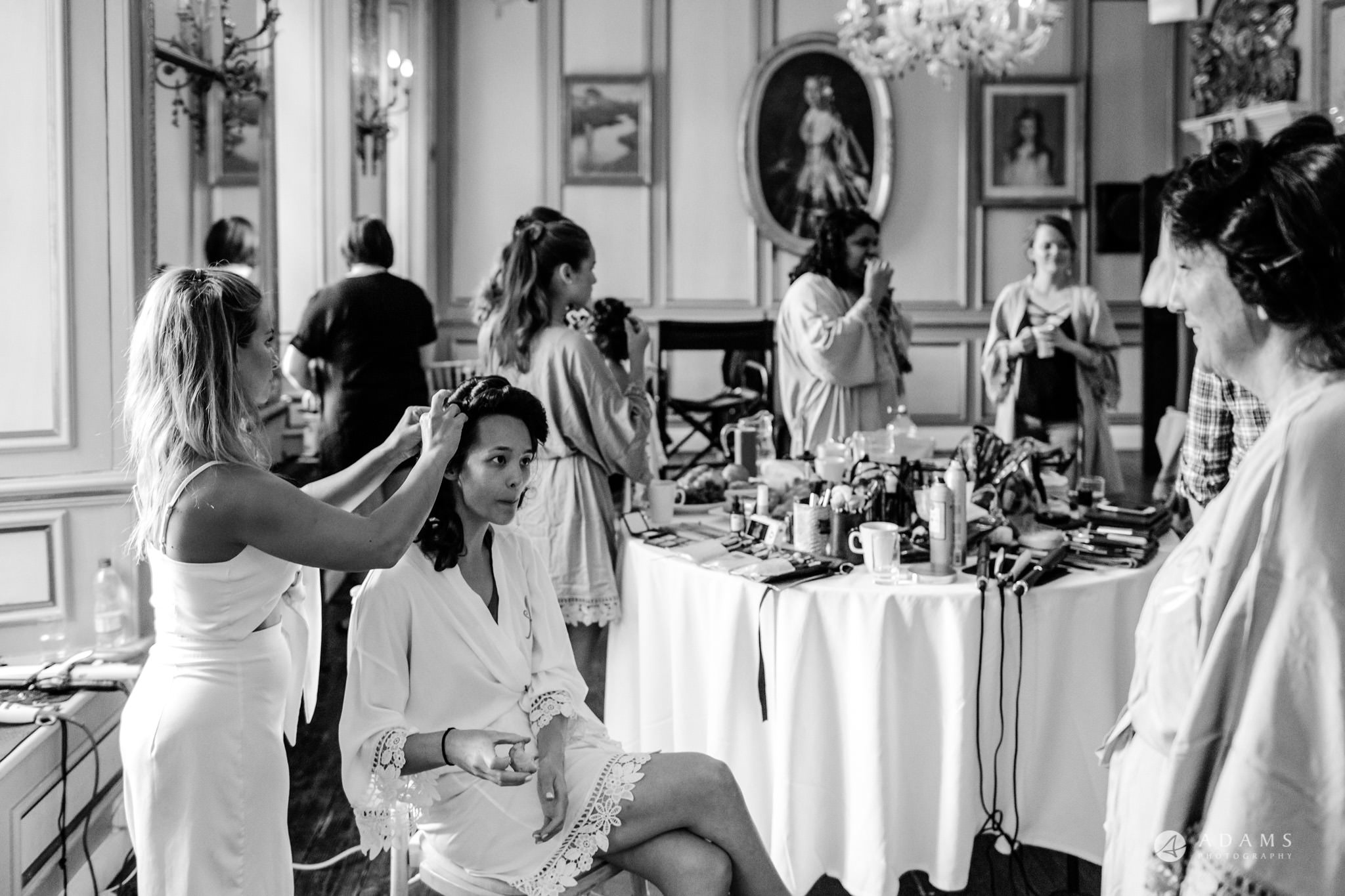 Trinity College Cambridge wedding getting ready