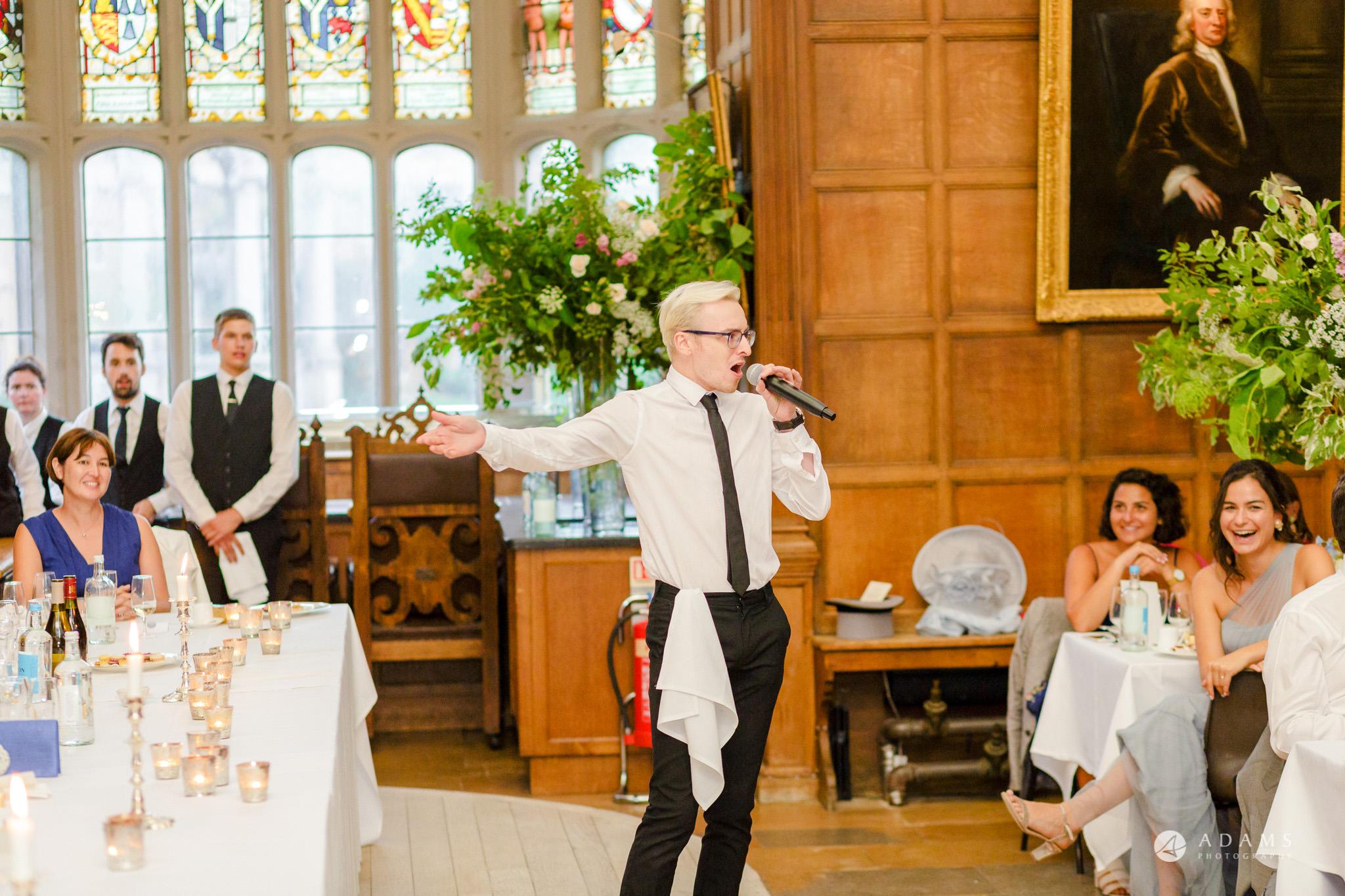 Trinity College Cambridge wedding entertainment