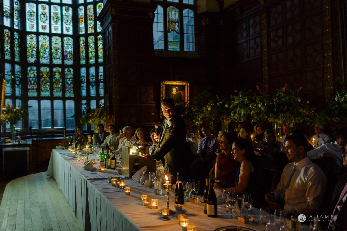 Trinity College Cambridge wedding father of the bride speech