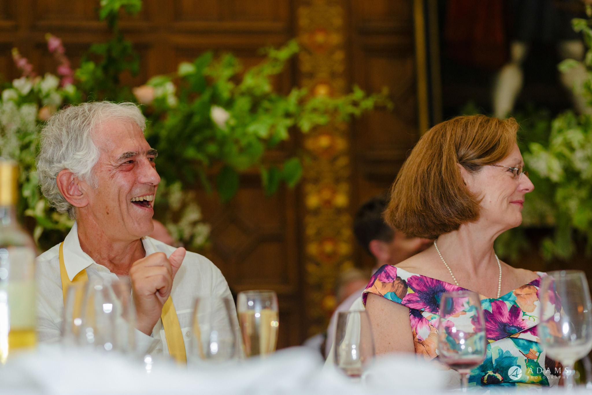 Trinity College Cambridge wedding parent reaction
