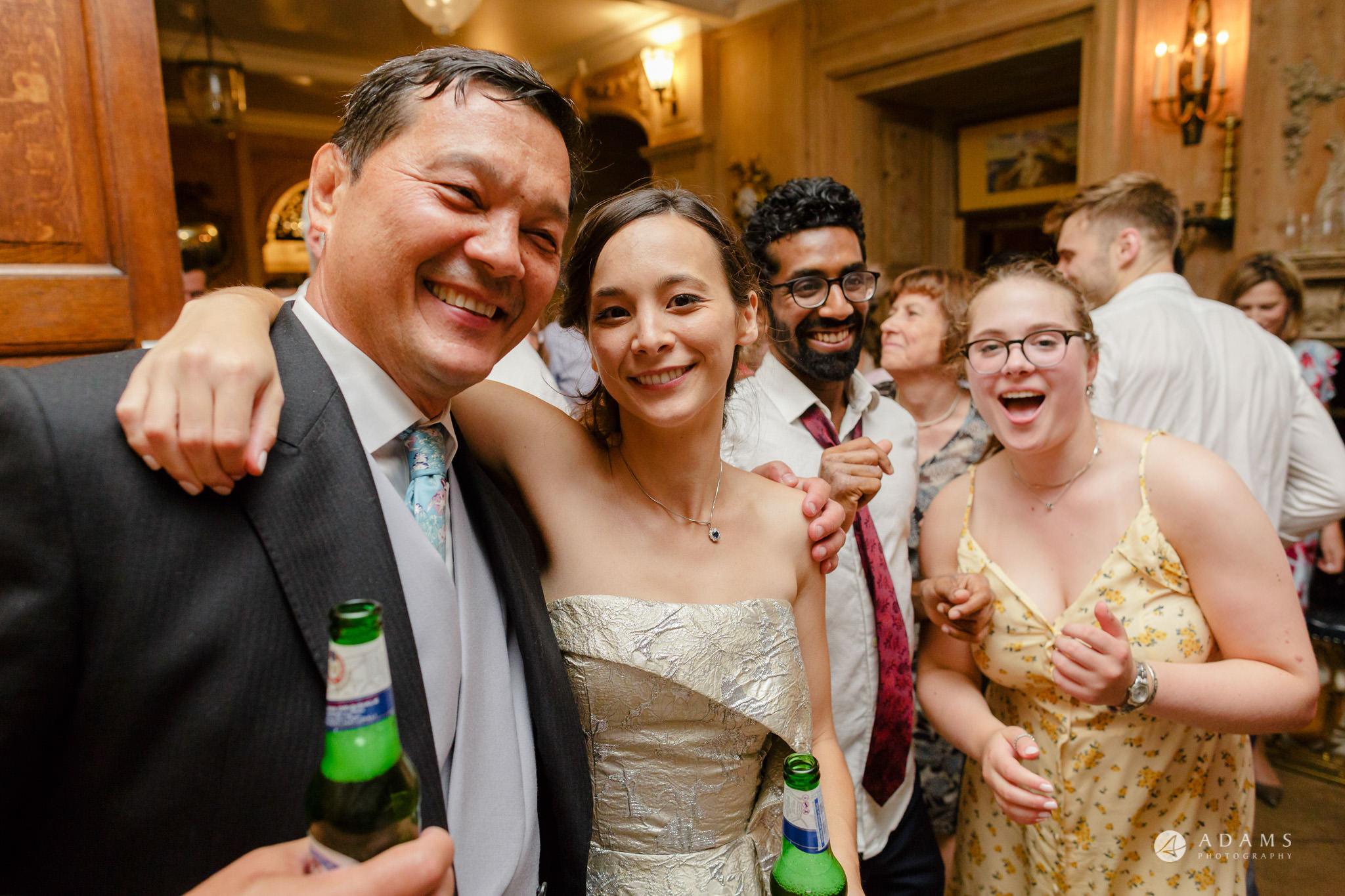 Trinity College Cambridge wedding selfie