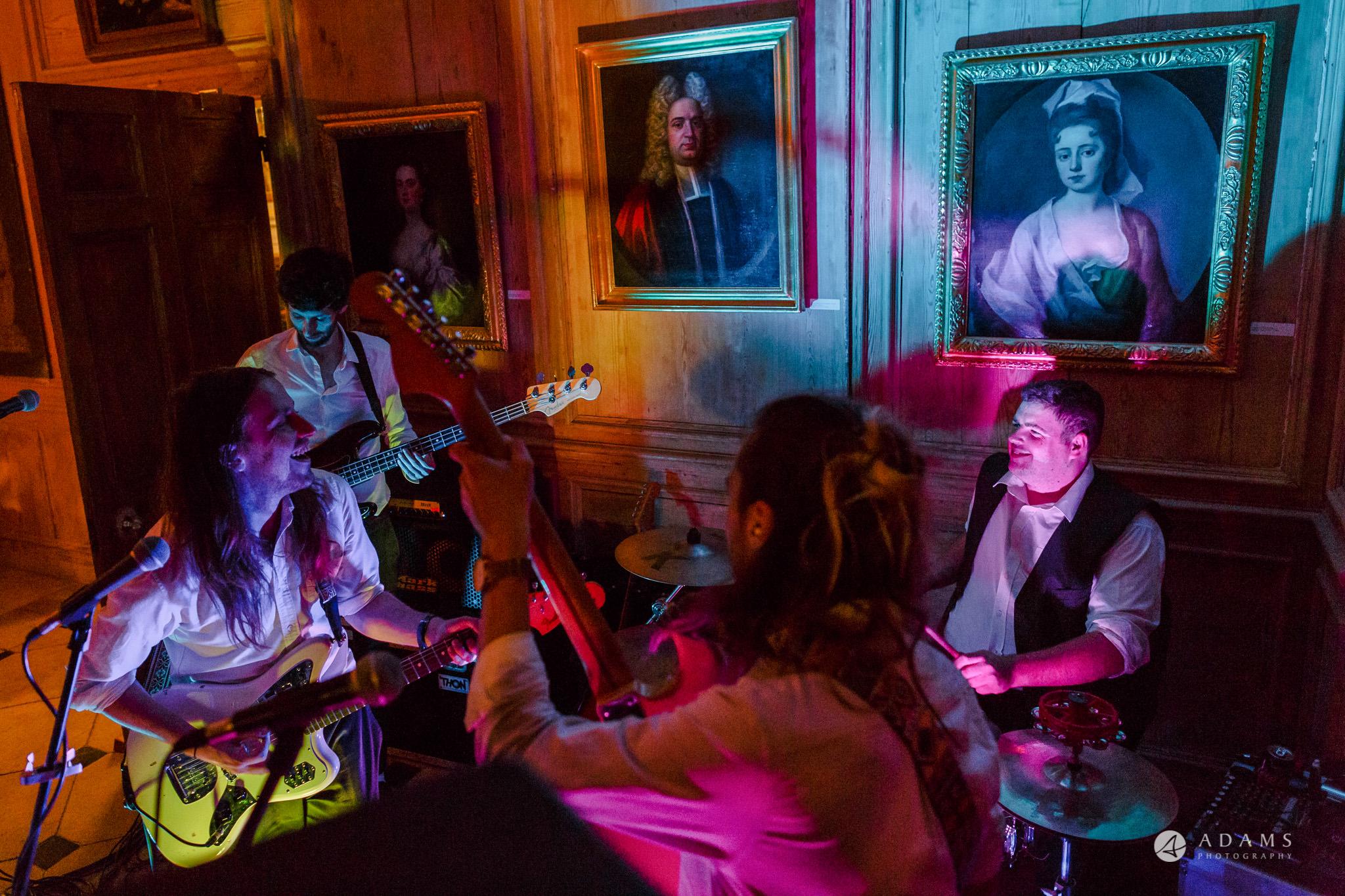 Trinity College Cambridge wedding band playing
