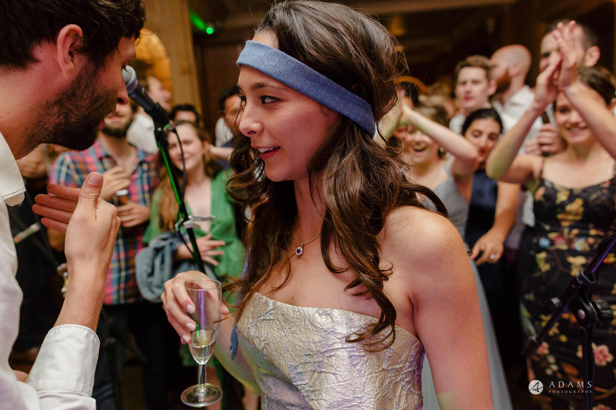 Trinity College Cambridge wedding bride dances