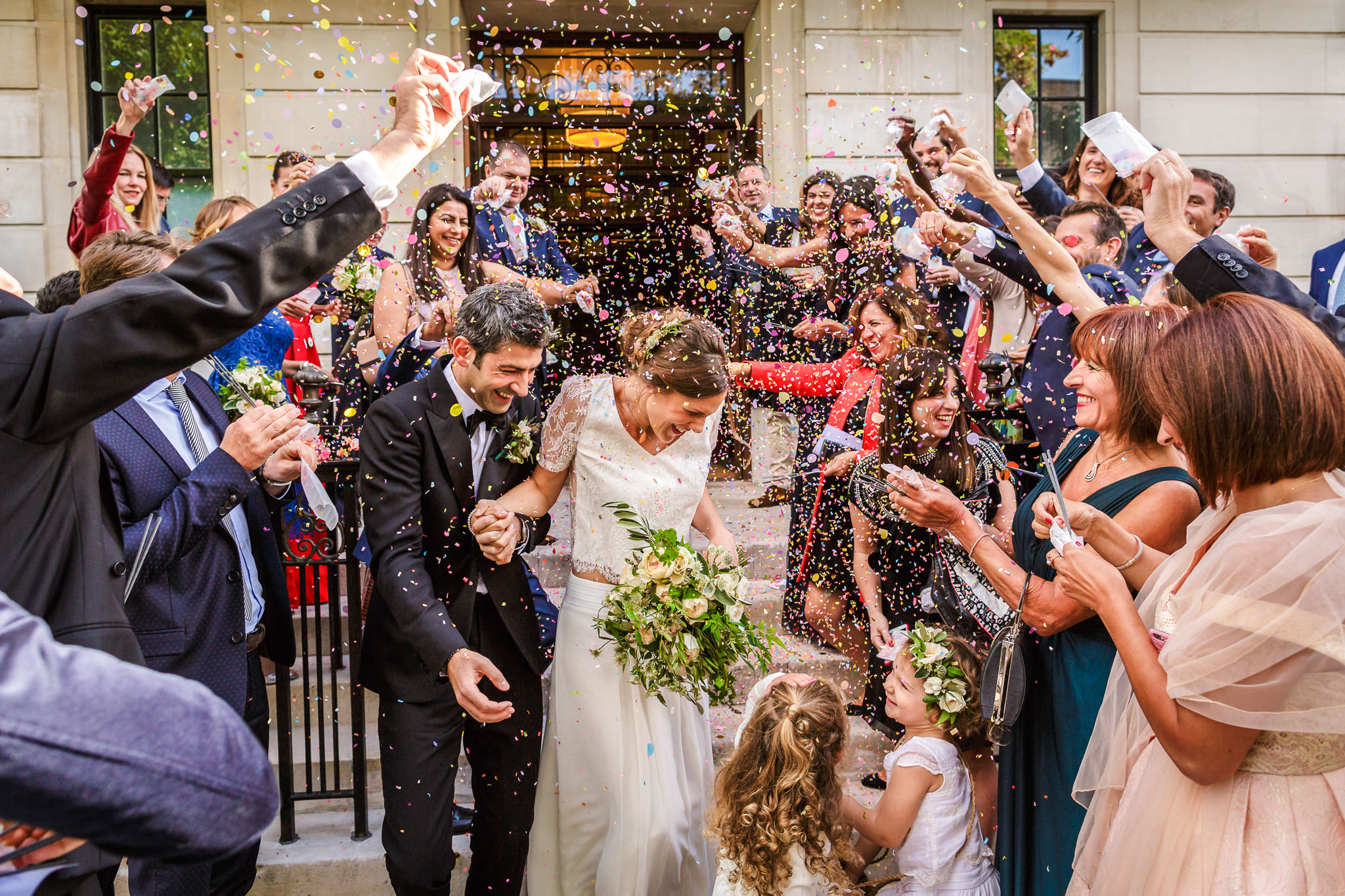 Natural Style Wedding Photography London Confetti shot