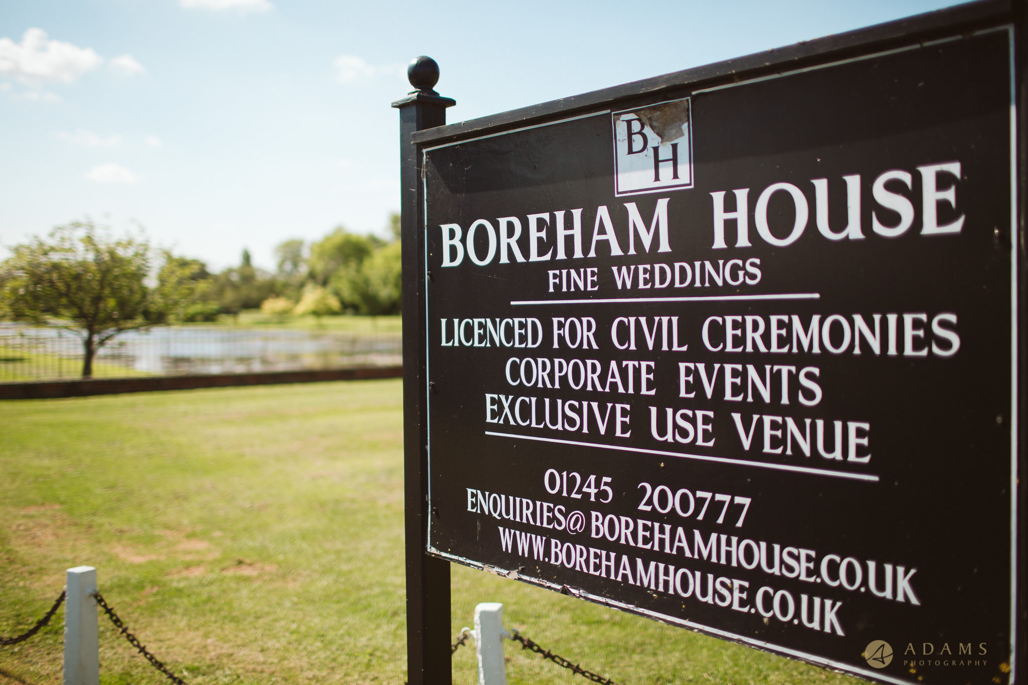Boreham House entrance sign