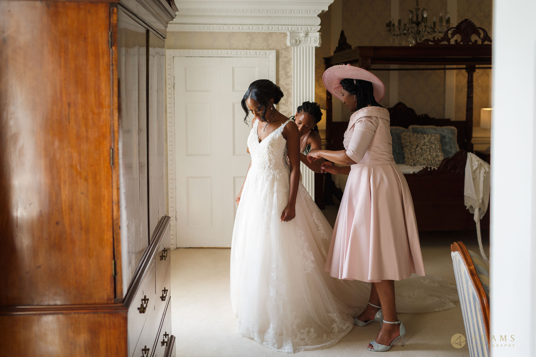 Boreham House wedding photographer bride getting ready
