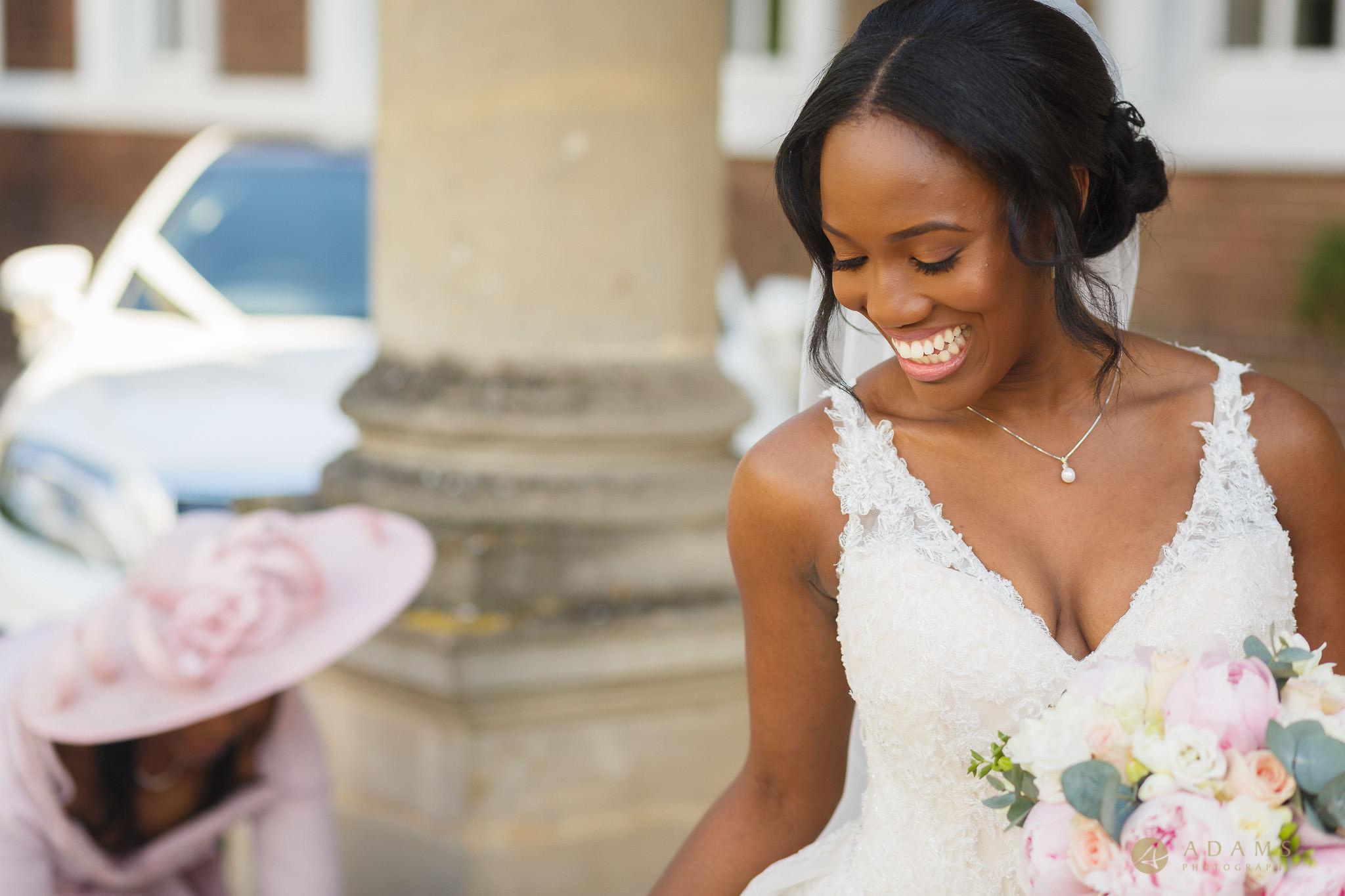 bride outside of the Boreham House