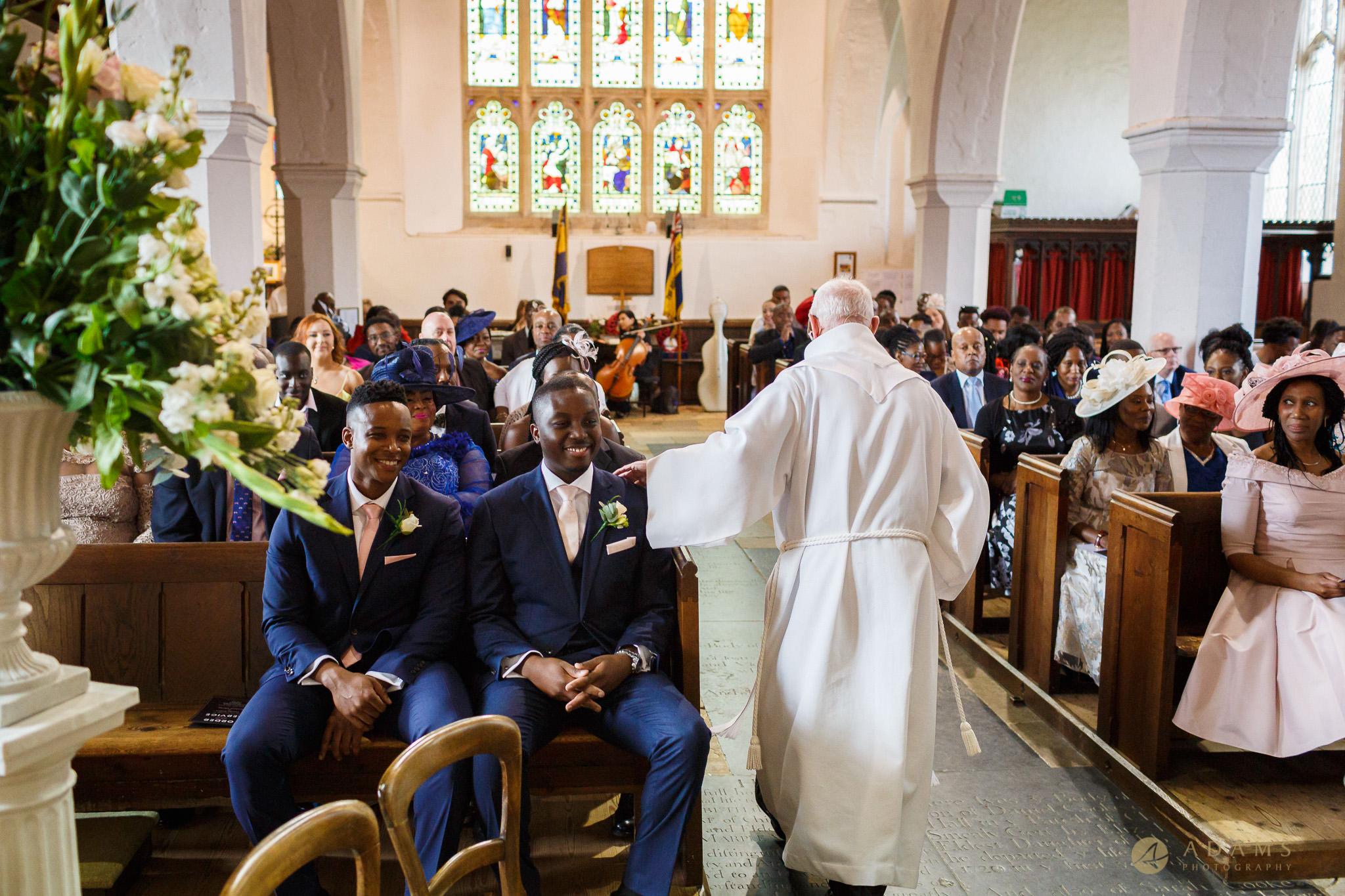 groom in the church