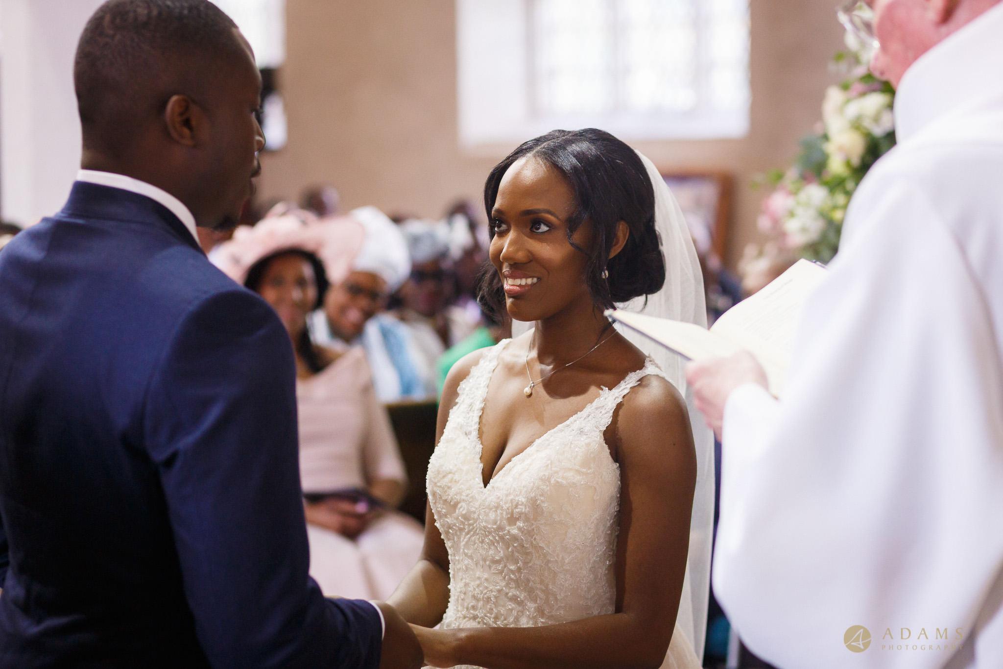 bride looking into the eyes of groom