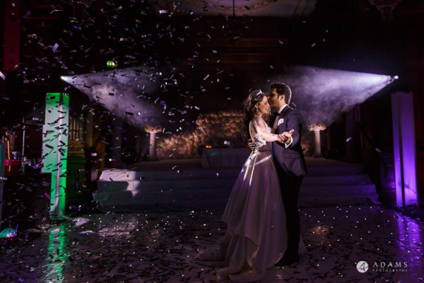 Buckinghamshire wedding photographer couple having their first dance