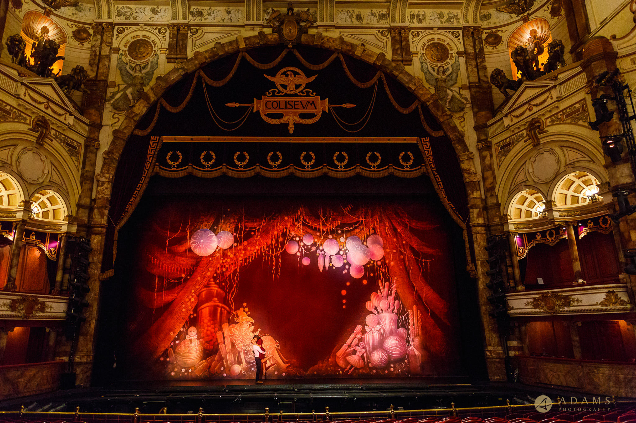 Surprise Engagement Proposal Coliseum ENO London on the stage