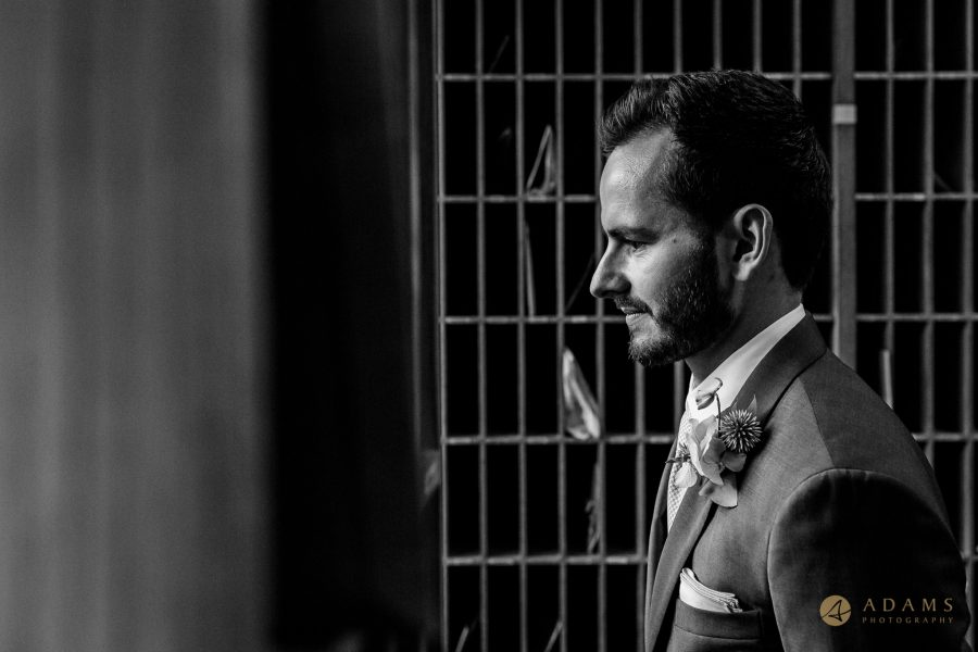 Wedding Photographer Cambridge groom portrait