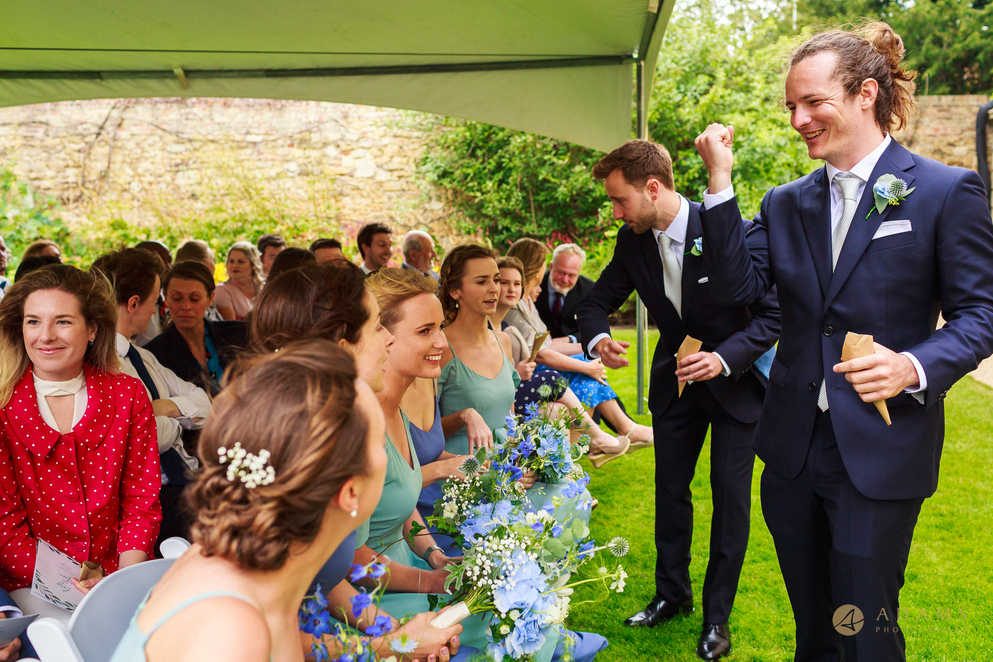guests enjoying themselves at the ceremony in Magdalena College