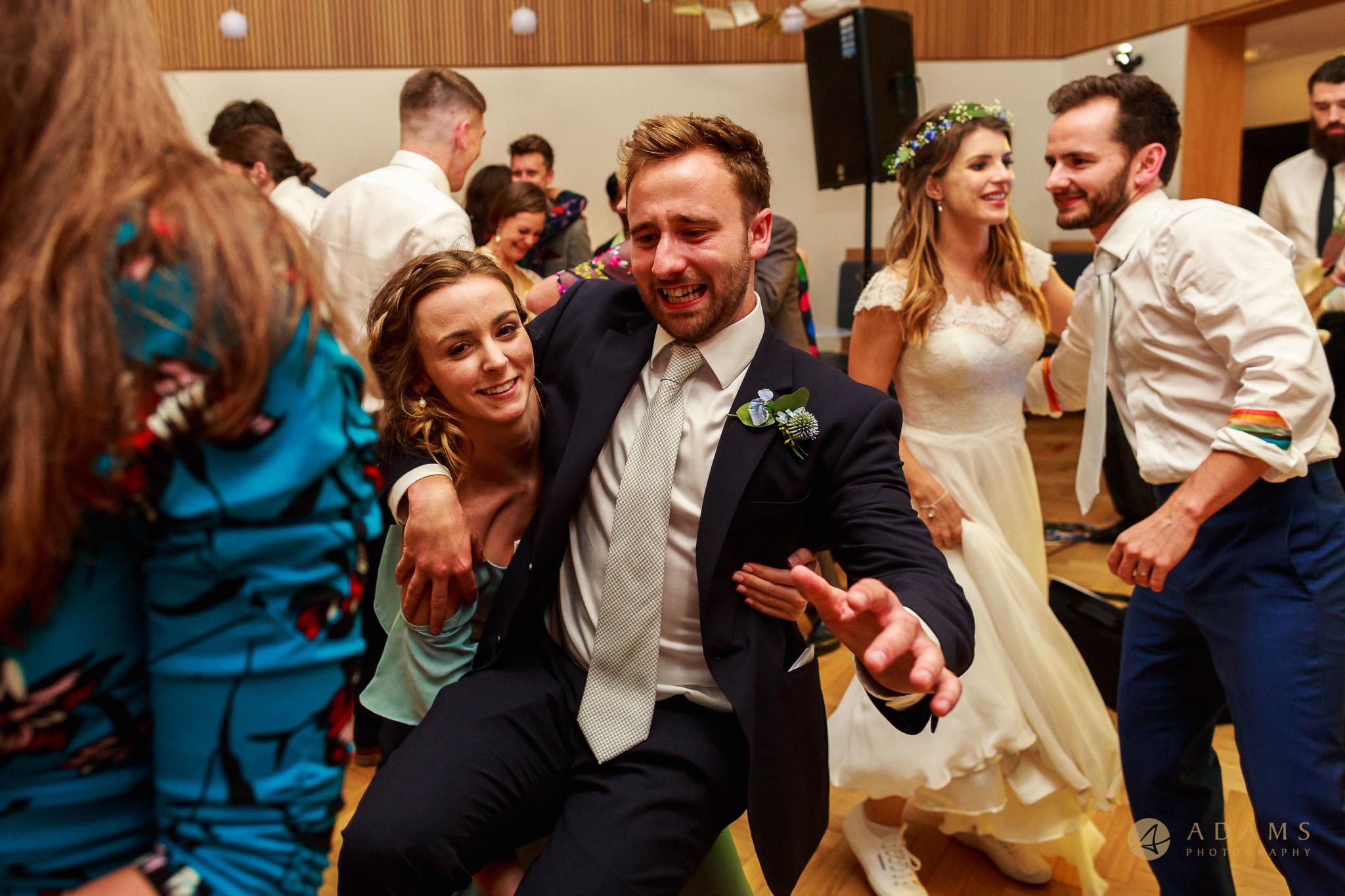 Newnham College wedding party dancing
