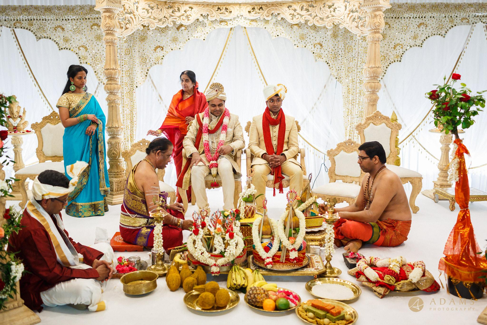 Asian wedding ceremony starts