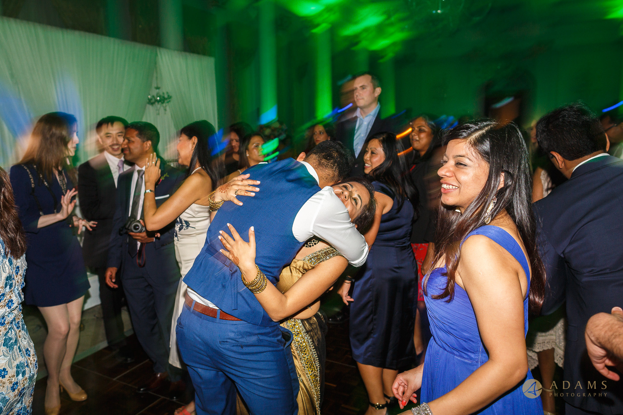 guests dance at the Langham Hotel Wedding