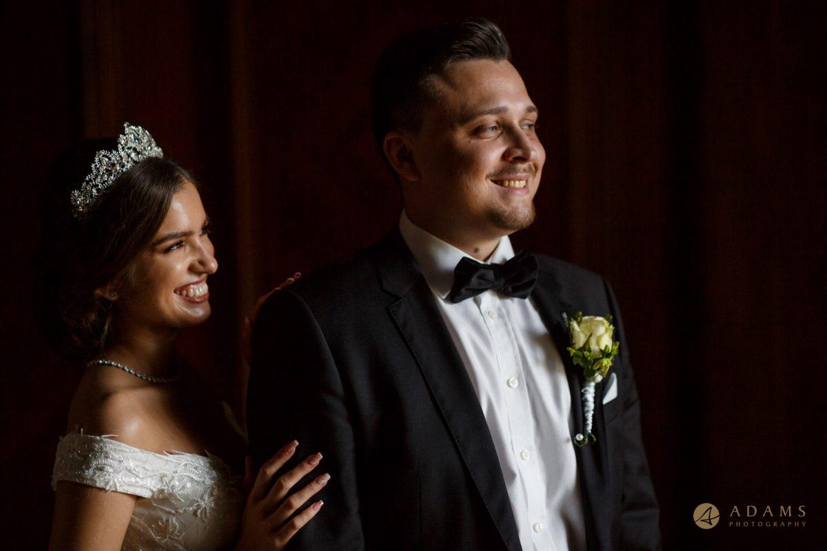 Bride and Groom portrait in the Paddington Room
