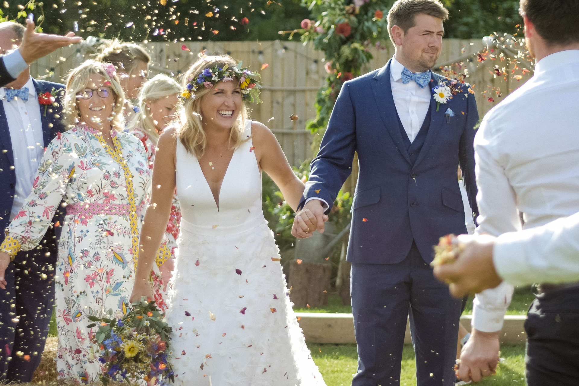 DIY Wedding Videography Surrey Confetti Shot