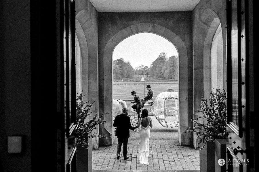Wedding at Syon Park in London couple walking away