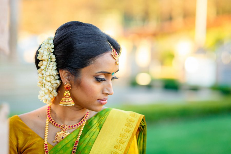 Asian bride portrairt at her wedding in London