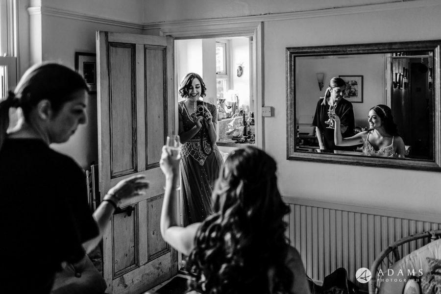 London Wedding Photographer Portfolio bridal preparations with champgen
