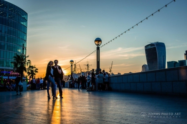 Engagement Photos Tower Bridge London | Fred + Tim